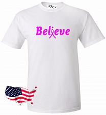Buy Believe Cancer T-shirt Breast Cancer Awareness