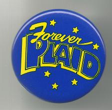 Buy Forever Plaid Collectible Pinback Button Pin Vintage