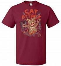 Buy Cat Attack Unisex T-Shirt Pop Culture Graphic Tee (5XL/Cardinal) Humor Funny Nerdy Ge