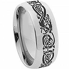Buy coi Jewelry Tungsten Carbide Dome Dragon Wedding Band Ring