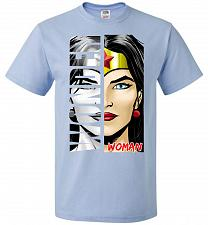 Buy Wonder Woman Youth Unisex T-Shirt Pop Culture Graphic Tee (Youth S/Light Blue) Humor