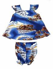 Buy Baby Girls Aloha Blue Hawaii Top & Bottom Diaper Cover Set #HH-825-BH size 12 MO