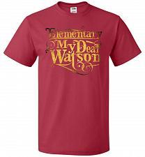 Buy Elementary My Dear Watson Sherlock Holmes Adult Unisex T-Shirt Pop Culture Graphic Te