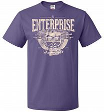 Buy Enterprise Unisex T-Shirt Pop Culture Graphic Tee (M/Purple) Humor Funny Nerdy Geeky