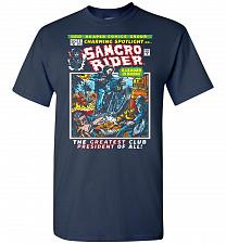 Buy Born Leader Samcro Rider Unisex T-Shirt Pop Culture Graphic Tee (S/Navy) Humor Funny