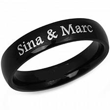 Buy coi Jewelry Black Titanium Ring With Custom Engraving