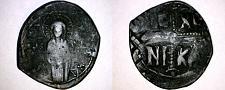 Buy 1034-1041AD Byzantine Class C Follis - Michael IV - AE31 9g