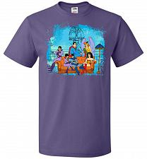 Buy Super Friends Unisex T-Shirt Pop Culture Graphic Tee (S/Purple) Humor Funny Nerdy Gee