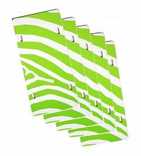 "Buy LOT OF 5 BLANK 6""x12"" PLASTIC LICENSE PLATE SUBLIMATION TAG LIME ZEBRA DECAL"