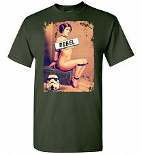 Buy Princess Leia Rebel Unisex T-Shirt Pop Culture Graphic Tee (2XL/Forest Green) Humor F