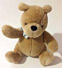 "Buy Gund Classic Winnie the Pooh Plush Stuffed Bear Sitting 8"" Brown with Blue Bow"