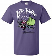 Buy Zim Pilgrim Unisex T-Shirt Pop Culture Graphic Tee (L/Purple) Humor Funny Nerdy Geeky