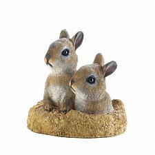 Buy *17884U - Peek-A-Boo Brown Garden Bunnies Figure Statue Yard Art Décor