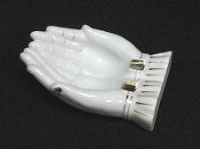 Buy Porcelain Hands Figural Ashtray Snuffer Japan Vintage Large