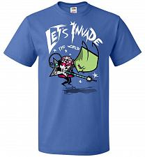 Buy Zim Pilgrim Unisex T-Shirt Pop Culture Graphic Tee (3XL/Royal) Humor Funny Nerdy Geek