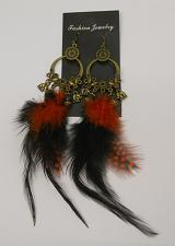 Buy Women Feather Earrings Drop Dangle Red Black Hook Fasteners FASHION JEWELRY