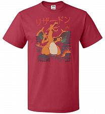 Buy Fire Kaiju Unisex T-Shirt Pop Culture Graphic Tee (3XL/True Red) Humor Funny Nerdy Ge