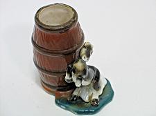 Buy Vintage Porcelain Horse & Barrel Match Holder Figural Ashtray Snuffer Japan