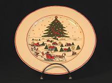 Buy VIntage Christmas Salad Side Plate ARPO Horse Sleigh Tree Stars Vintage
