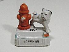 Buy Vintage Porcelain Dog Hydrant Figural Ashtray Snuffer No Parking