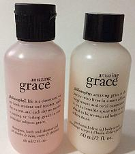 Buy LOT OF 2 Philosophy amazing grace shampoo+ perfumed olive oil body scrub 2oz