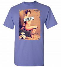 Buy Princess Leia Rebel Unisex T-Shirt Pop Culture Graphic Tee (2XL/Violet) Humor Funny N