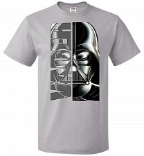 Buy Vader Youth Unisex T-Shirt Pop Culture Graphic Tee (Youth L/Silver) Humor Funny Nerdy