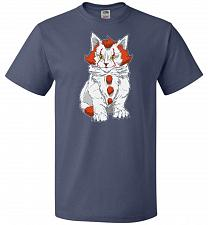 Buy kITten Unisex T-Shirt Pop Culture Graphic Tee (L/Denim) Humor Funny Nerdy Geeky Shirt