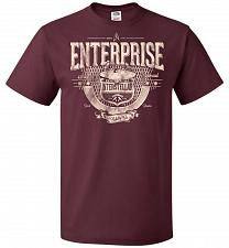 Buy Enterprise Unisex T-Shirt Pop Culture Graphic Tee (5XL/Maroon) Humor Funny Nerdy Geek
