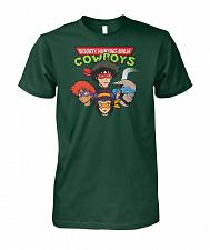 Buy Bounty Hunting Ninja Cowboys Unisex T-Shirt Pop Culture Graphic Tee (L/Forest Green)