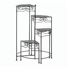 Buy *18034U - Black 4-Tier Stairstep Metal Plant Stand