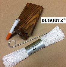 "Buy Wooden Tobacco Dugout Set with pipe 4"" Spring Loaded (3"" Metal One Hitter) DO14"