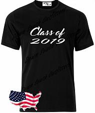 Buy Class of 2019 T Shirt Senior Graduation Small - 6X (16 Tee Colors)