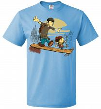 Buy Just the 2 of Us Unisex T-Shirt Pop Culture Graphic Tee (M/Aquatic Blue) Humor Funny