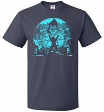 Buy Saiyan Sized Secret Unisex T-Shirt Pop Culture Graphic Tee (5XL/J Navy) Humor Funny N