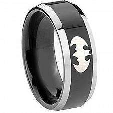 Buy coi Jewelry Black Titanium BatMan Wedding Band Ring