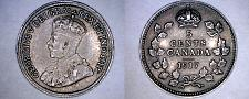 Buy 1917 Canada 5 Cent World Silver Coin - Canada - George V - Lot#9919