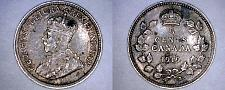 Buy 1919 Canada 5 Cent World Silver Coin - Canada - George V - Lot#9927