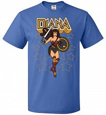 Buy Amazon Princess Unisex T-Shirt Pop Culture Graphic Tee (4XL/Royal) Humor Funny Nerdy
