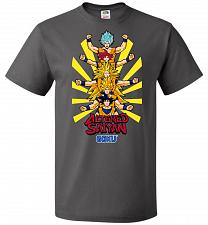 Buy Altered Saiyan Unisex T-Shirt Pop Culture Graphic Tee (6XL/Charcoal Grey) Humor Funny