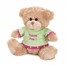 "Buy *16049U - Thank You 8"" Beige Soft Fur Plush Bear Stuffed Animal"