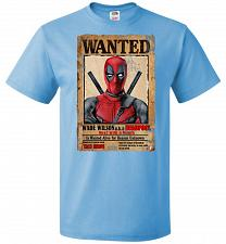 Buy Deadpool Wanted Poster Youth Unisex T-Shirt Pop Culture Graphic Tee (Youth S/Aquatic
