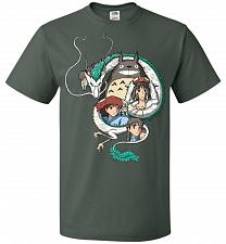 Buy Ghibli Unisex T-Shirt Pop Culture Graphic Tee (3XL/Forest Green) Humor Funny Nerdy Ge