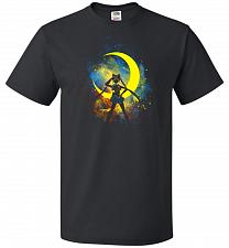 Buy Moon Art Unisex T-Shirt Pop Culture Graphic Tee (4XL/Black) Humor Funny Nerdy Geeky S