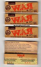 "Buy 4 PACKS ""WAR on Hate"" 1 1/4 Rolling papers by RAW Limited Edition Collectible"