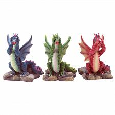 Buy 33915U - See Hear Speak No Evil Dragon Figurines Mythical Statue