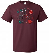 Buy Darkside of the Bloom Unisex T-Shirt Pop Culture Graphic Tee (XL/Maroon) Humor Funny