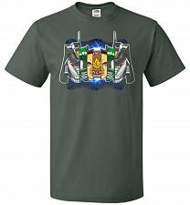 Buy Green Ranger Unisex T-Shirt Pop Culture Graphic Tee (L/Forest Green) Humor Funny Nerd