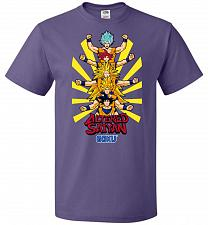 Buy Altered Saiyan Unisex T-Shirt Pop Culture Graphic Tee (3XL/Purple) Humor Funny Nerdy