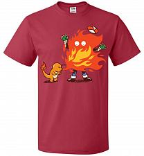 Buy Charred Unisex T-Shirt Pop Culture Graphic Tee (XL/True Red) Humor Funny Nerdy Geeky